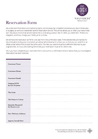 Valverdi Reservation Form